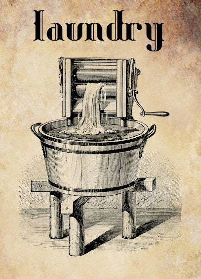 antique washing machine laundry clip art Digital graphics download ...