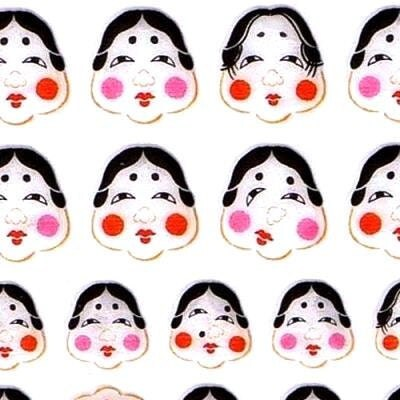 Beautiful Japanese Stickers Okame Girls by FromJapanWithLove