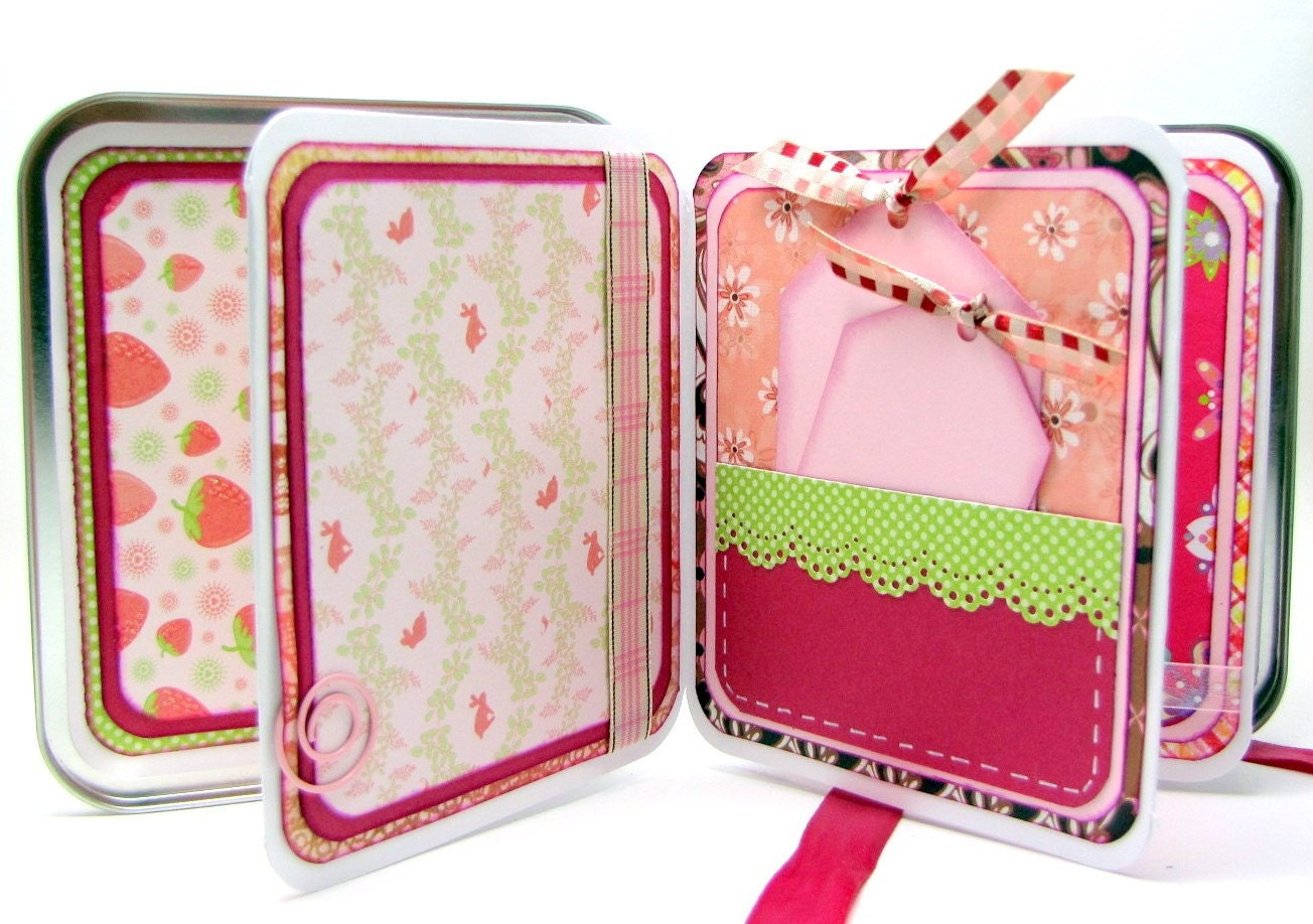 Baby Girl Mini Accordian Tin Album