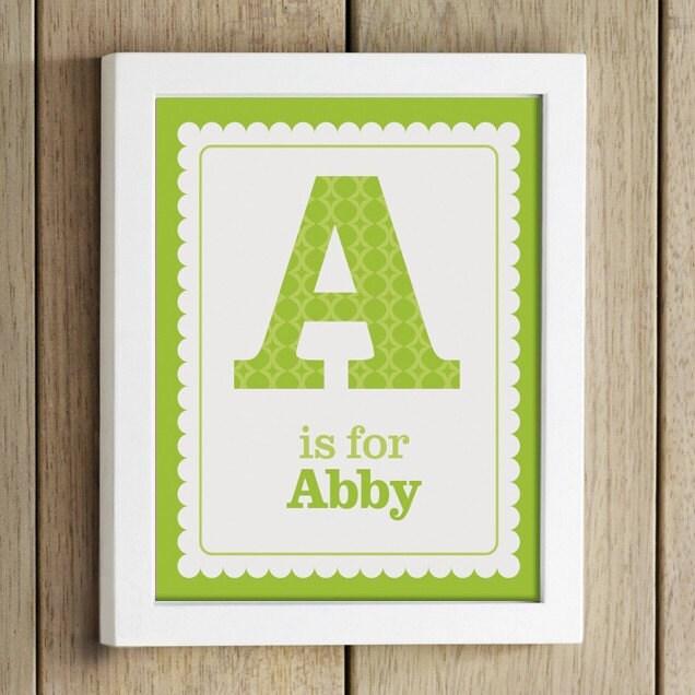 custom name nursery print