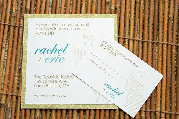 beach or outdoor wedding invitations