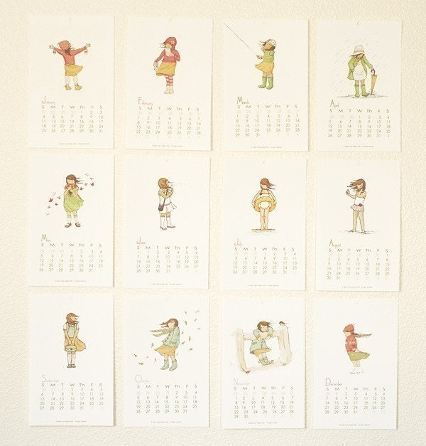 2009 Calendar --Her month by month