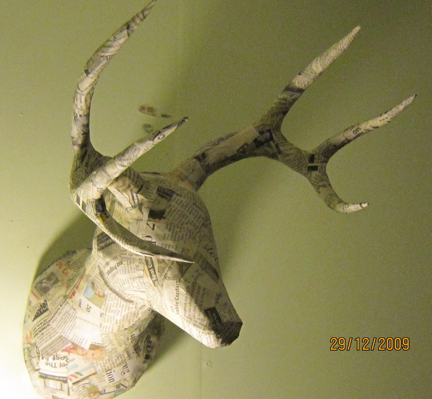 Items Similar To Paper Mache Faux Taxidermy Buck Head On