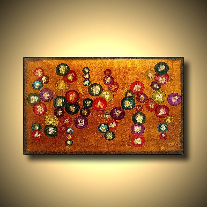 FREE  SHIPPING-Deja Vu 36 x24 x1.5 original abstract painting by Hengameh  Kaghazchi-A Moment of Joy (Golden Metallic)----- FREE SHIPPING TO  USA-------.
