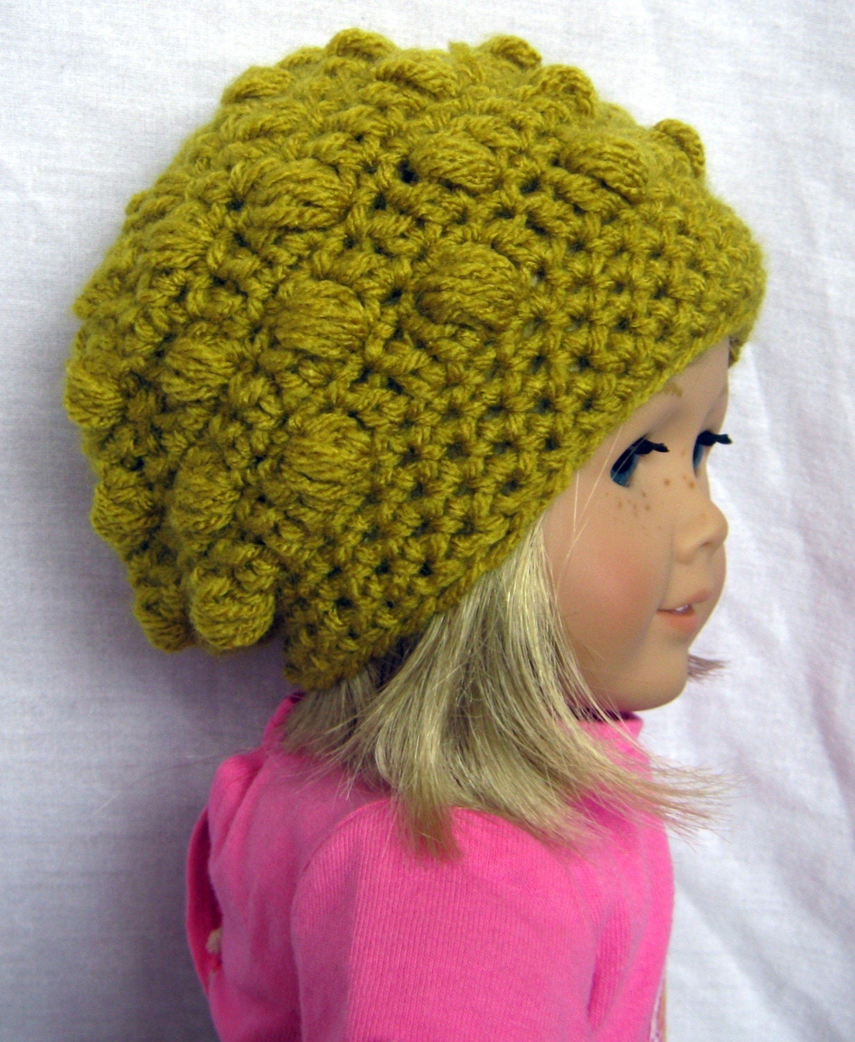 Crochet Hat Pattern American Girl Doll : PDF PATTERN Crochet Hat for American Girl dolls or by ...