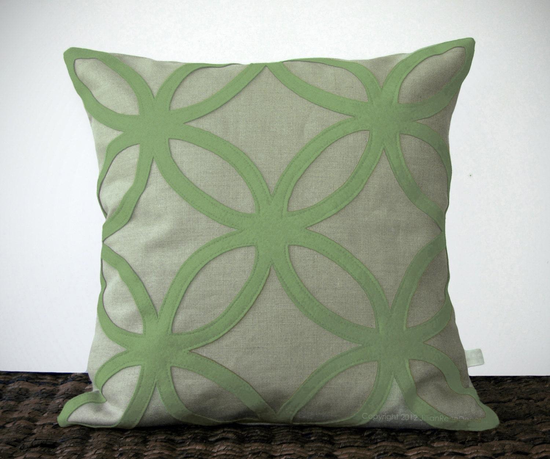 Items similar to Sage Green DECORATIVE PILLOW COVER - Geometric Felt Design by JillianReneDecor ...