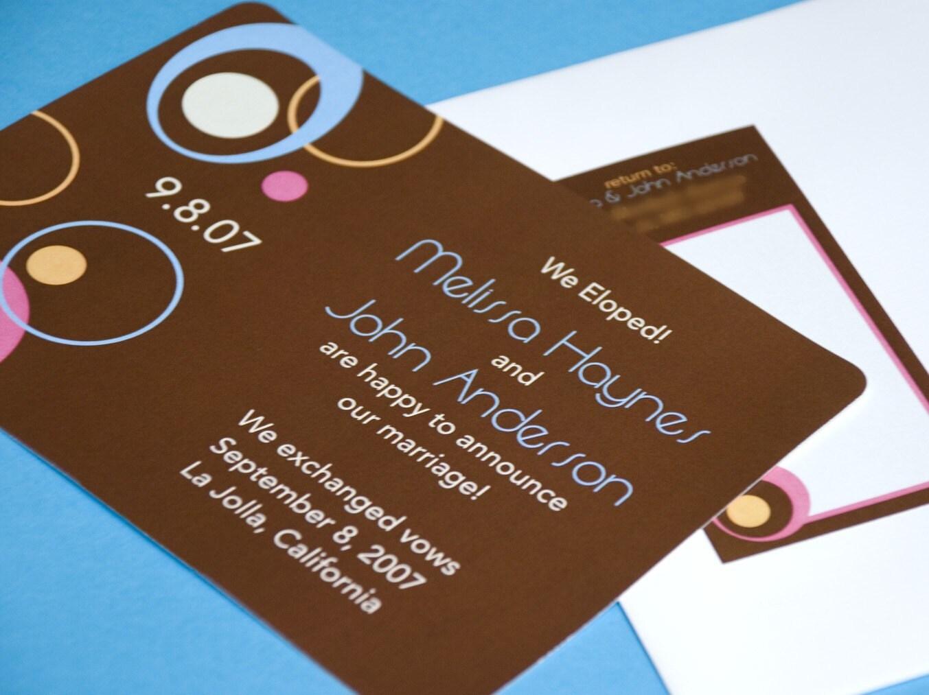 Deposit - Mod Circles Wedding Announcement