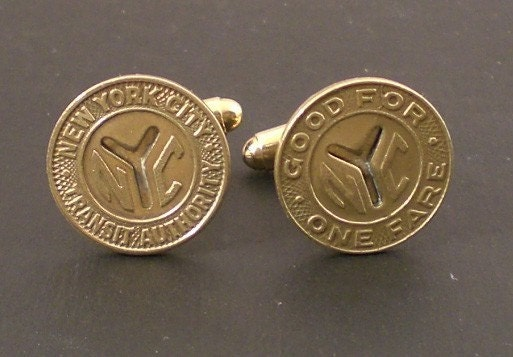 Vintage New York City Subway Token Cufflinks