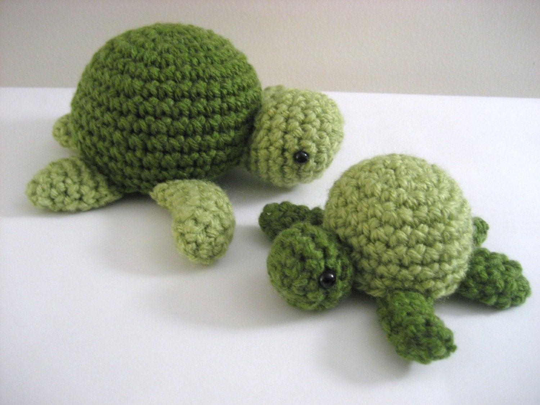 Padrão Amigurumi Crochet Sea Turtle PDF