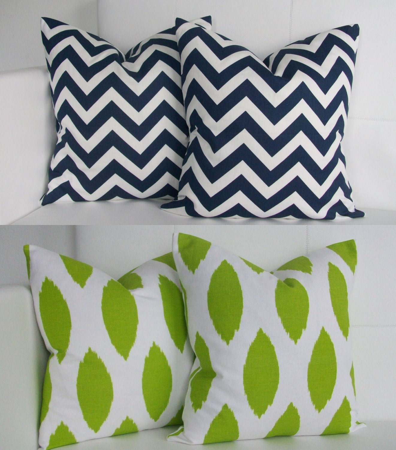 Navy Blue And Green Throw Pillows : Items similar to Navy and Green Pillow Covers - Blue and Green Throw Pillows on Etsy