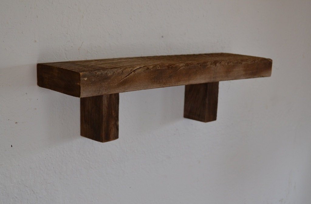 eco friendly barn wood wall shelf 19 inches wide 5 by. Black Bedroom Furniture Sets. Home Design Ideas