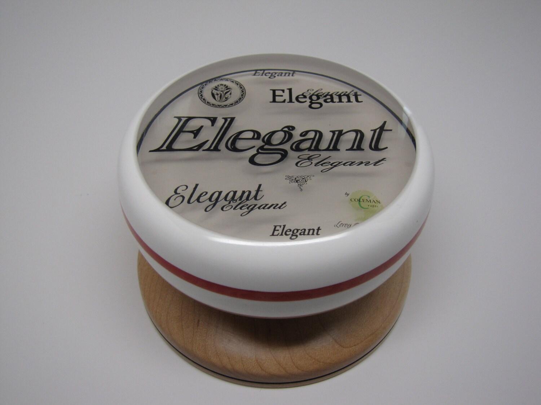 Elegant II in Black Letters on Hard maple