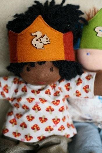 Bamboletta Doll Crown -  Squirrel HOLD for Beava