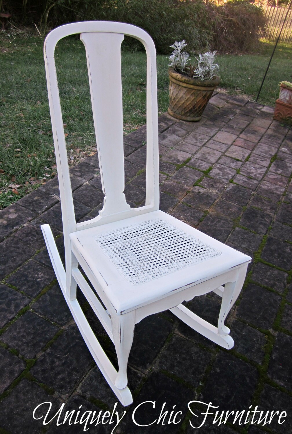 Shabby Chic Rocking Chair by suezcues on Etsy