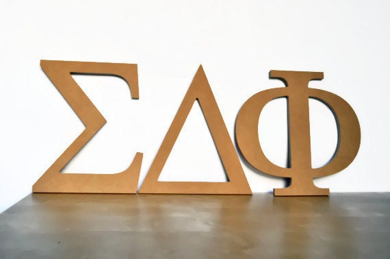 Unavailable listing on etsy for Buy wooden greek letters