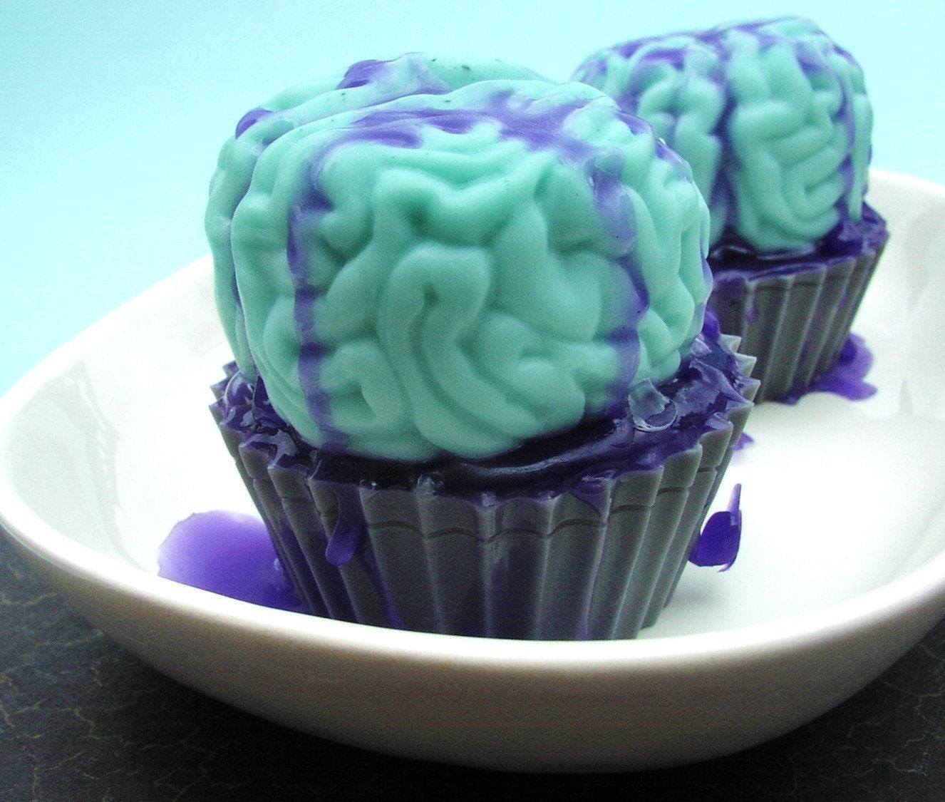 Zombie Brain Cupcake All Natural Glycerin Soap