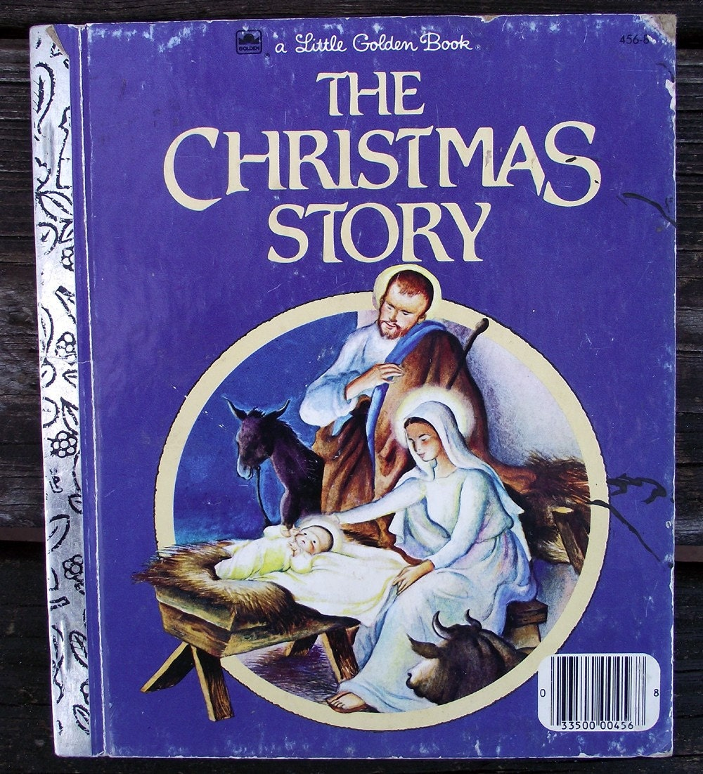 Vintage Little Golden Book..The Christmas Story 1980