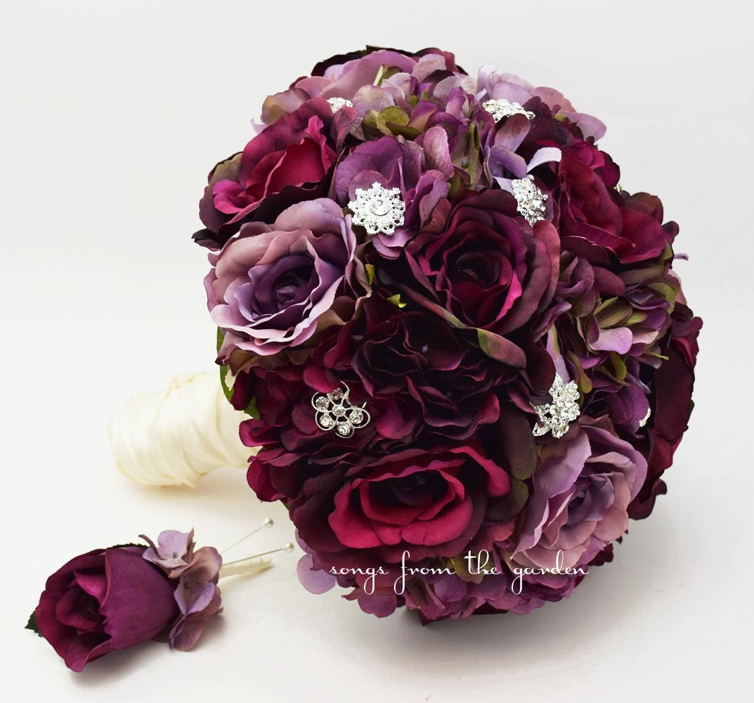 Plum hydrangeas wedding
