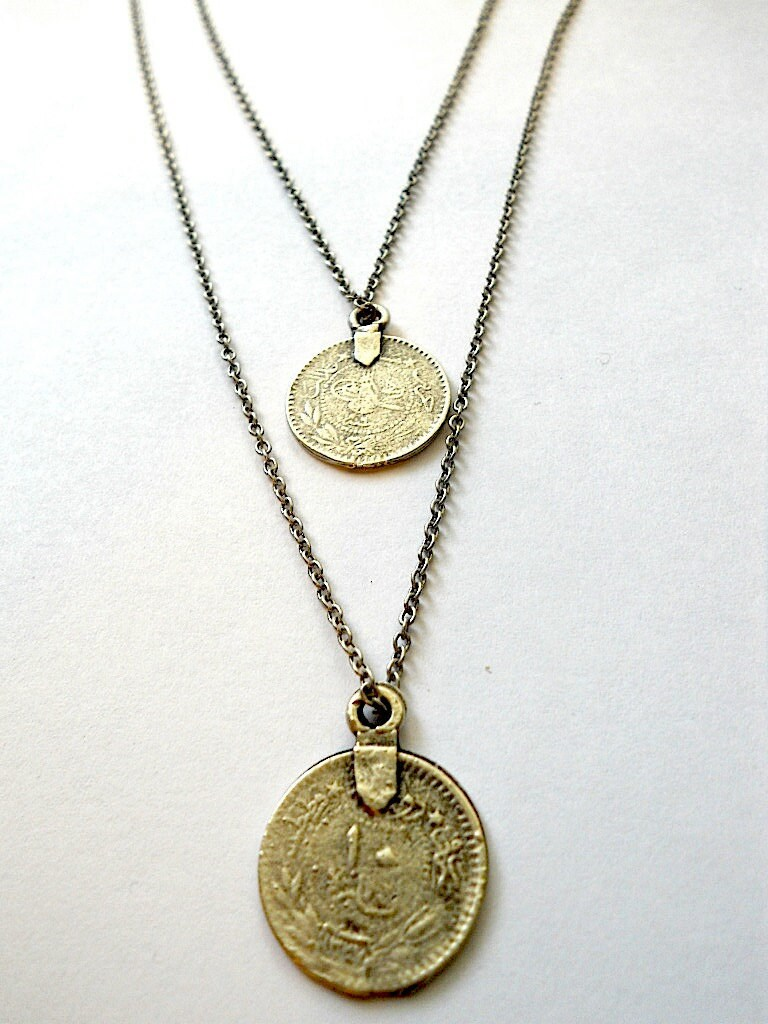 Coin Double Necklace