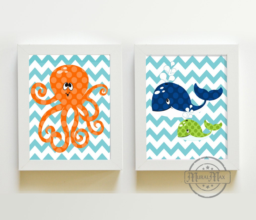 nursery art beach nautical nursery decor ocean prints by muralmax. Black Bedroom Furniture Sets. Home Design Ideas
