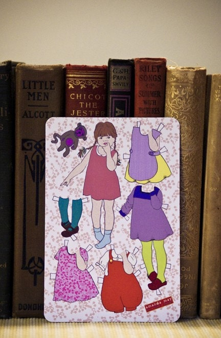 Asha Paper Doll Postcards (set of 3)