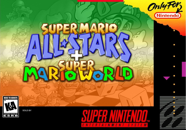 SNES Super Mario Allstars  Super Mario World  NTSC Repo Box and Insert NO Game Included