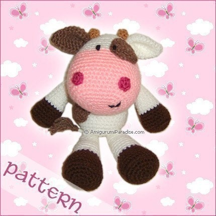 PDF Pattern - Moonique, the Cuddly Cow