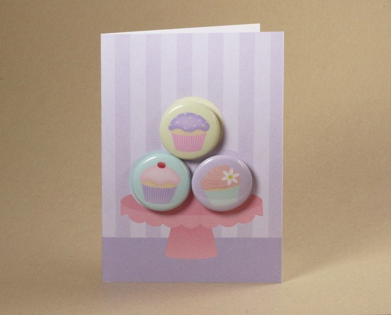 Cupcake Gift Card featuring Badges