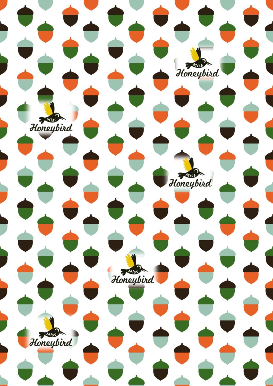 Acorn digital pattern - MissHoneyBird