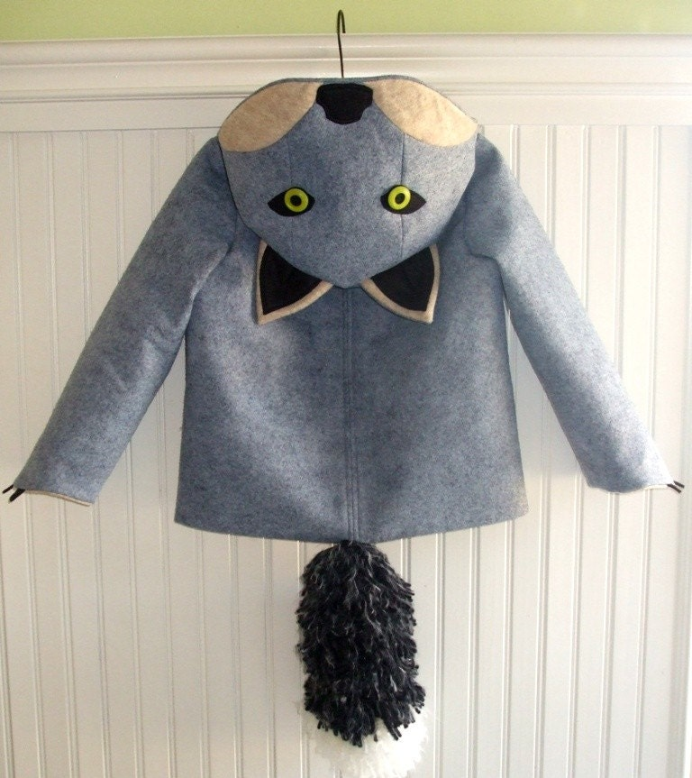 Fantastic Grey Fox Coat