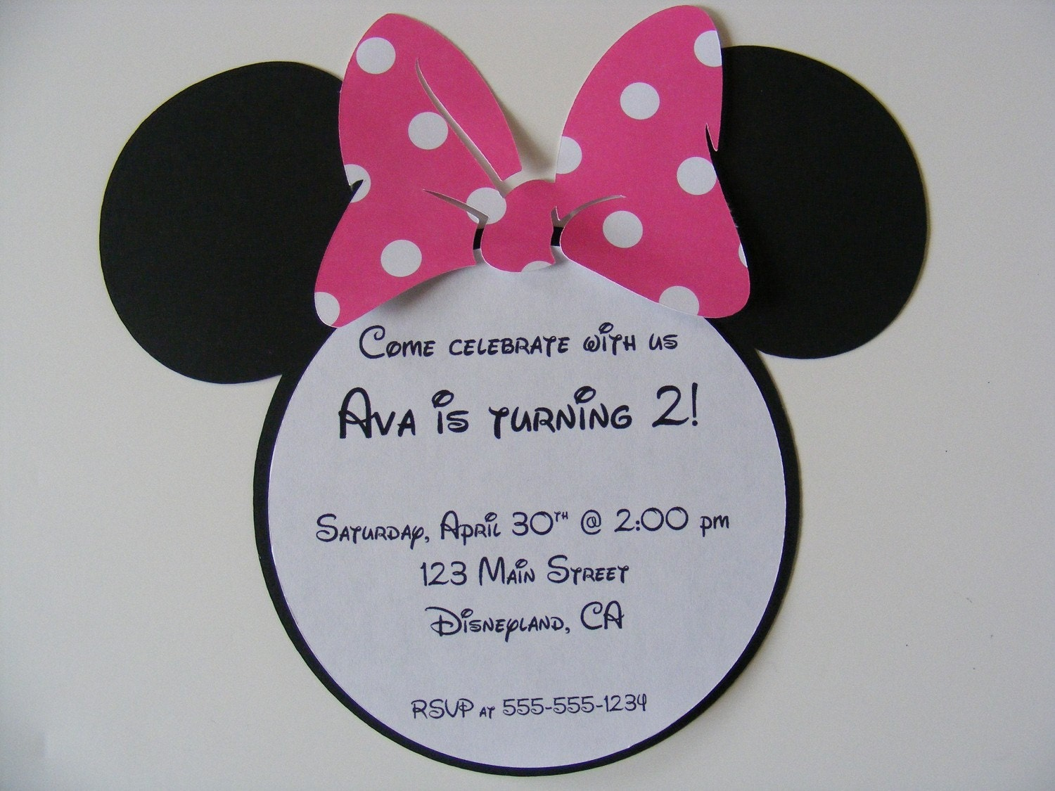 minnie mouse invitation help babygaga. Black Bedroom Furniture Sets. Home Design Ideas