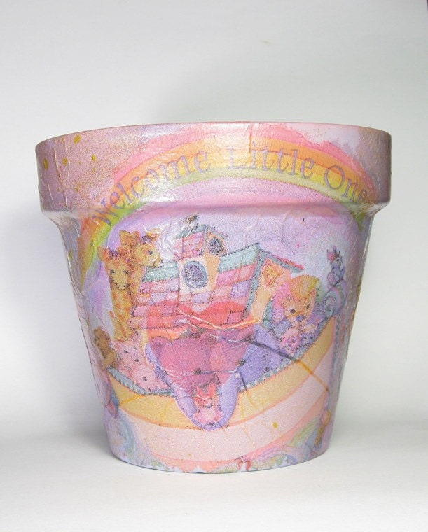 Baby Shower Terra Cotta Flower Pot
