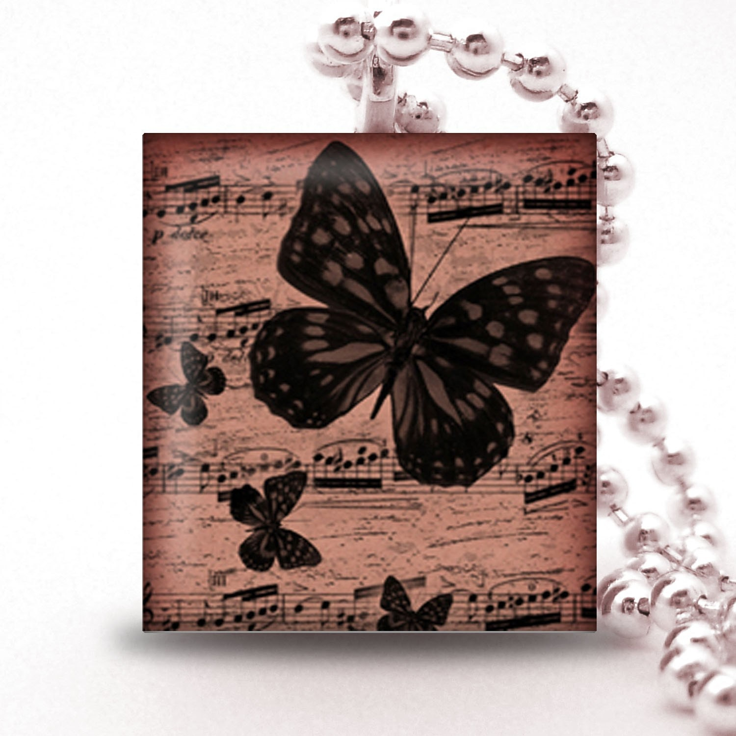 Scrabble Tile Pendant - MUSIC COLLECTION 012 - Buy 2 Pendants Get 1 Free