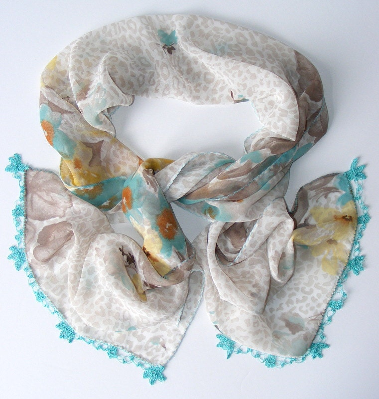 summer fashion scarf,chiffon scarf,soft,gift ideas,for her,fabric,handmade Oya,lace scarf,woman scarves,unique accessories