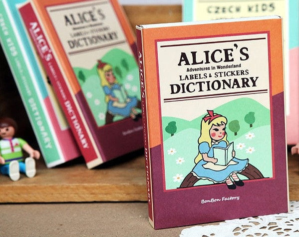 ALICE'S Dictionary Machbox Label Stickers - 90pages