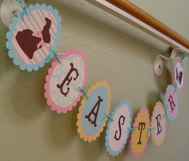 Easter Egg Banner w/ Chocolate Bunnies