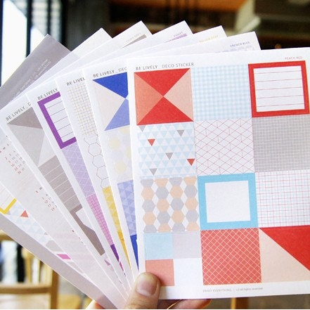 Be Lively Deco Stickers (5 sheets, 1 calendar sticker)