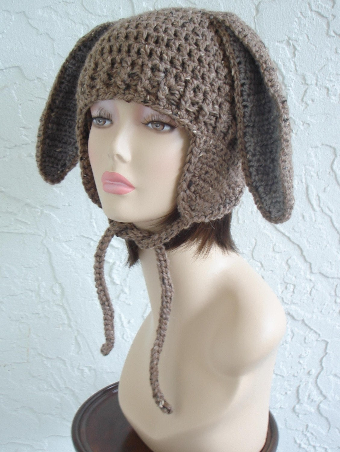 Adult Easter Bunny Earflap Hat - Made to Order