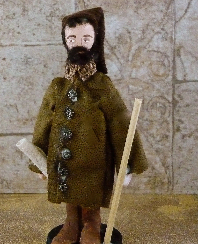 Geoffery Chaucer Art Miniature Doll