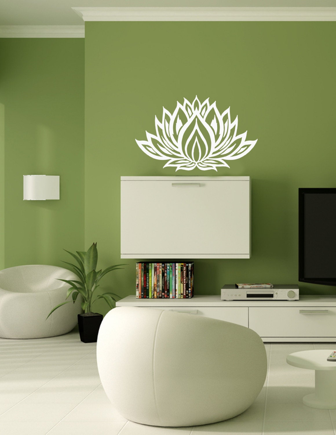 Lotus Flower Yoga Wall Decals Wall Vinyl Decal By Bestdecals