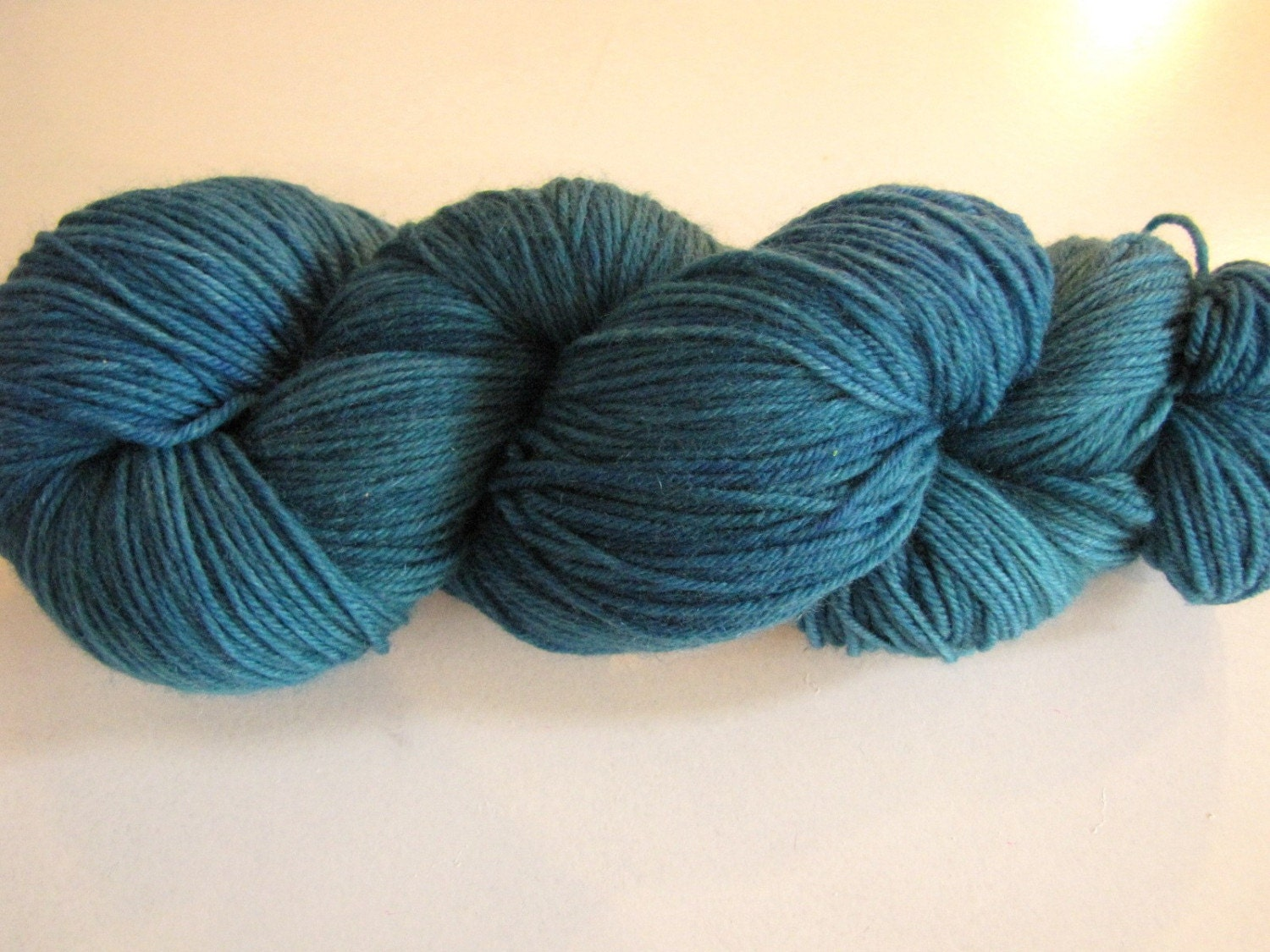 Hand Dyed Cash Sock in Blue Caves