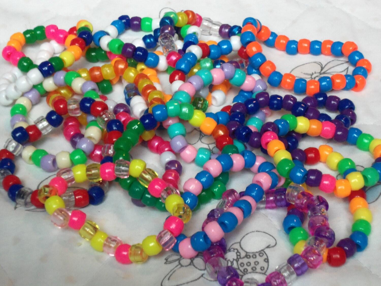 free shipping 20 kandi bracelets neon by yourbeats