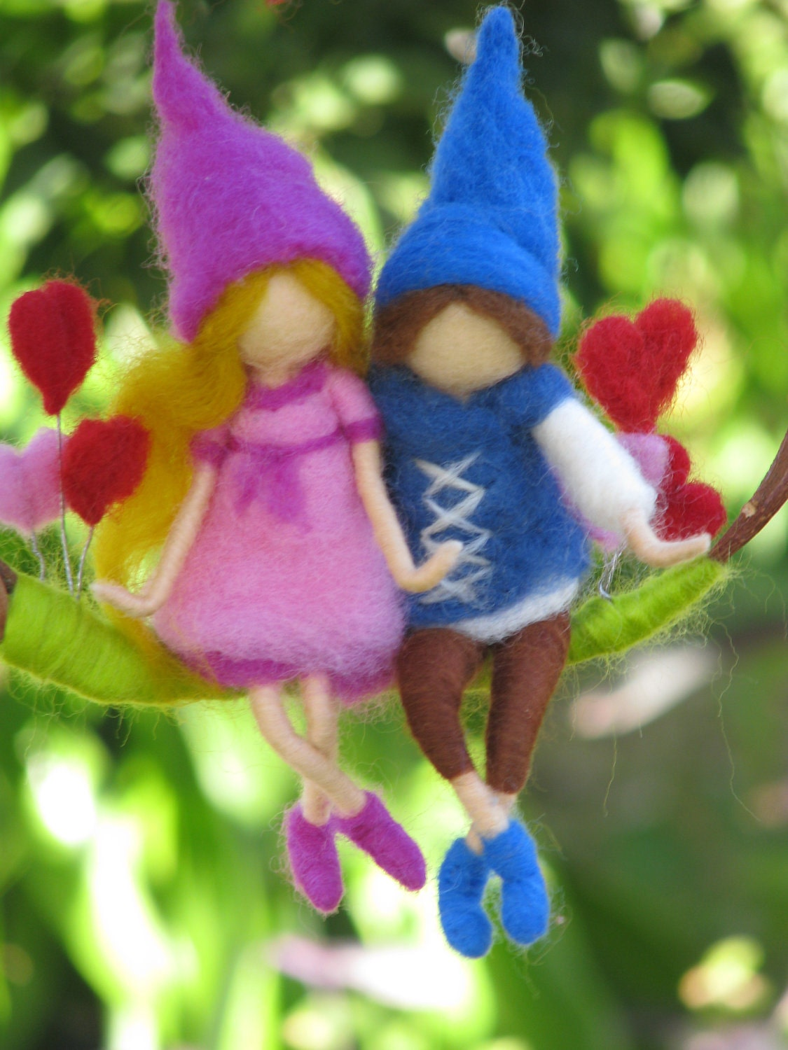 Needle felted Valentane's Day gift