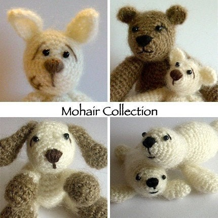 PDF Pattern Collection - Mohair Animal Cuties