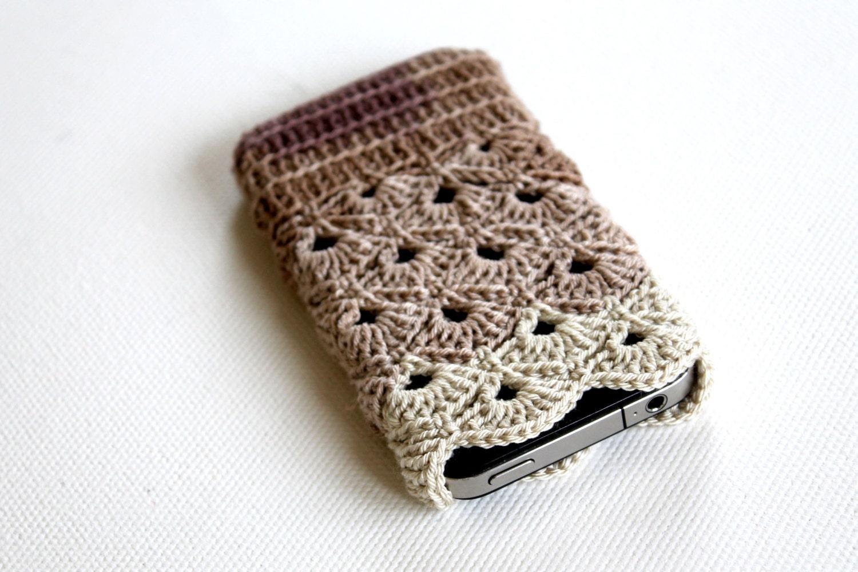 iPhone 5 / 4 / 4S / Case, Gadget Sleeve - Brown Batik Color - gloveshop