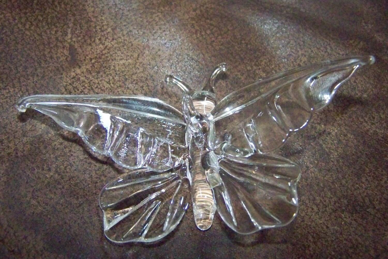 Glass butterfly ornament / suncatcher