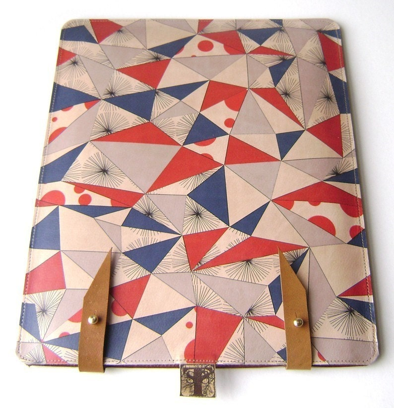 Leather iPad / kindle dx case - Scandinavian style