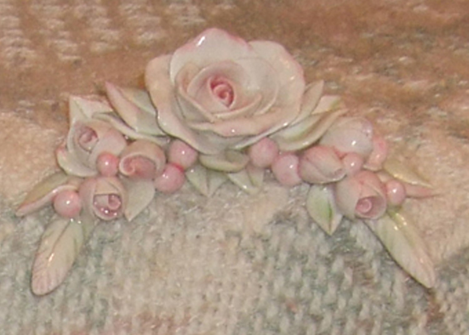 Furniture Applique Rose Cottage Shabby Chic Decorating Décor Curved Swag