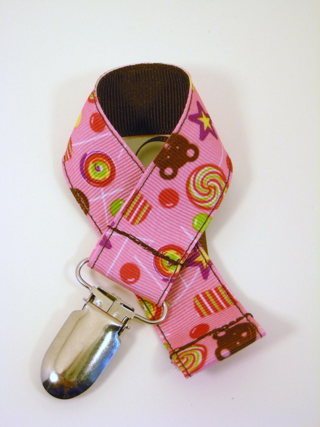 Pacifier Clip- Candy