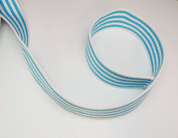 Cotton Strap, Bag Handle, Webbing for Bag Making - Cyan - aFabricDay